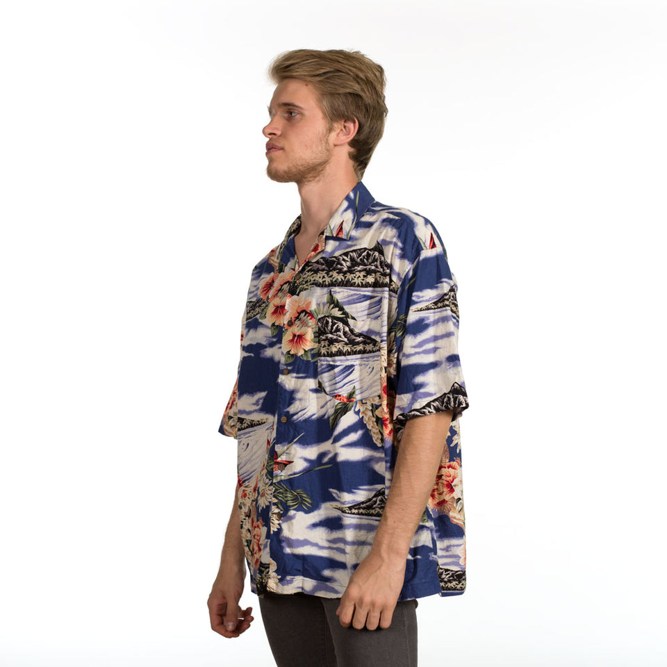 Camisa hawaiana BlueRodeo - Vintalogy