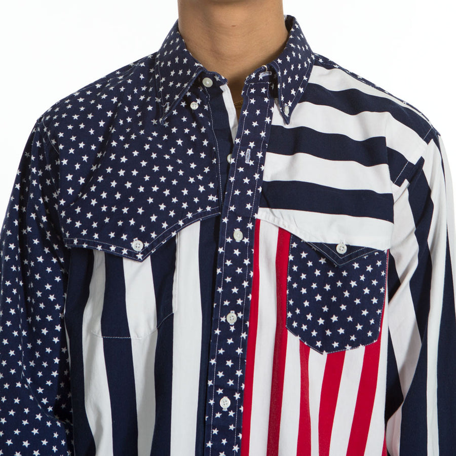 Camisa manda larga USA Ruddoek - Vintalogy