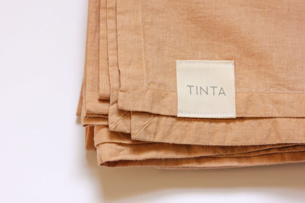 Hemp Throw/Tablecloth- Honey / Pink Marble