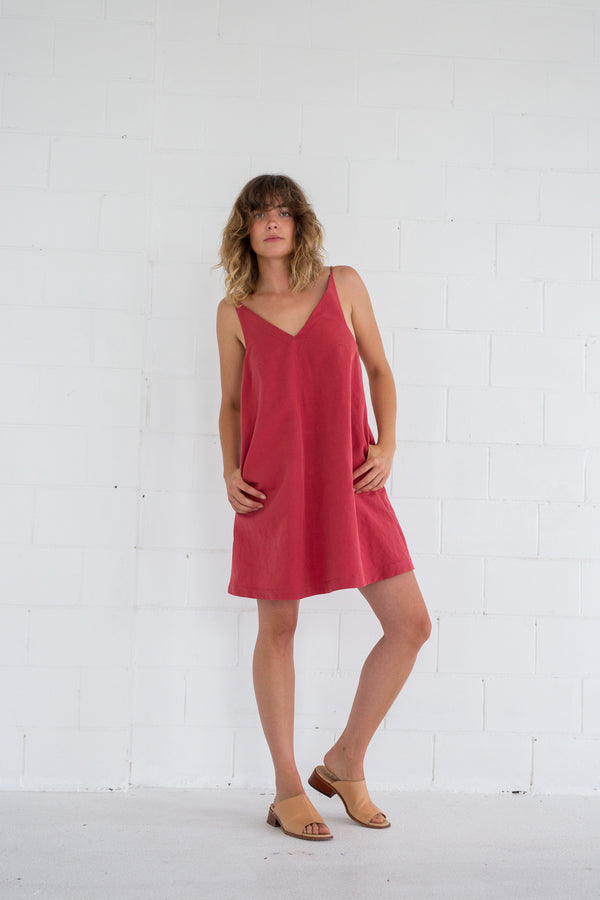 Connect Dress- Coral/Stripe