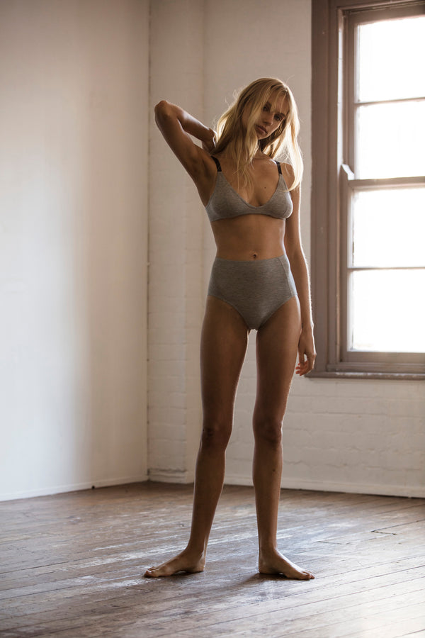 Triangle Bra- Grey