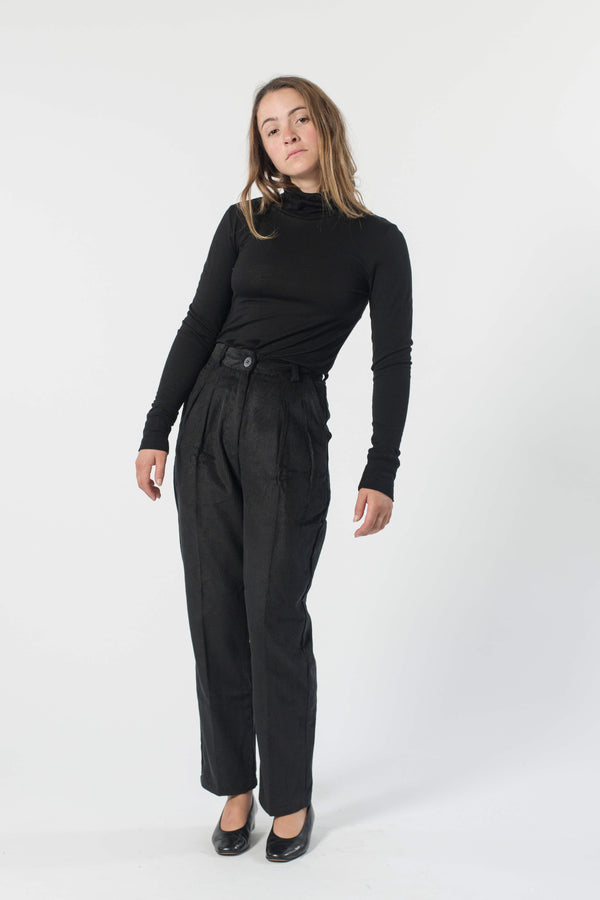 Hemp Corduroy Pleated Pants