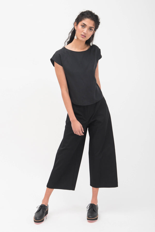Classic Wide Leg Tailored Pants - LAST ONE (4)