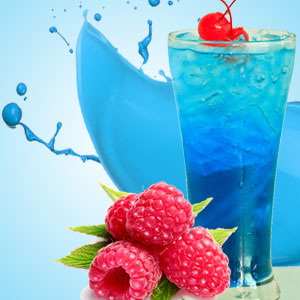 Blue Raspberry Slushie Delicious Fragrant Candle Soy Natural Handmade