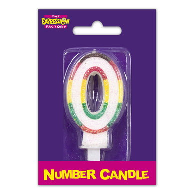 Number 0 Candle