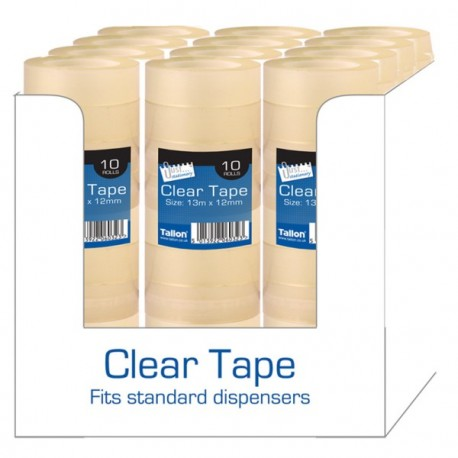 10 Rolls of Clear Tape