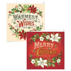 12 Square Christmas Contemp Script Boxed Cards