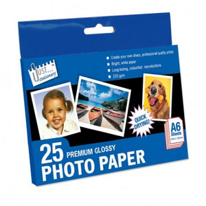 "25 Sheets of 6"" x 4"" Premium Glossy Photo Paper"