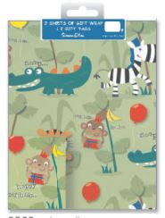 Pack Wrap: 2 Sheets and 2 Tags