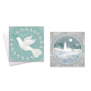 10 Square Boxed Cards: Dove