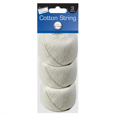 3 Balls of Cotton String