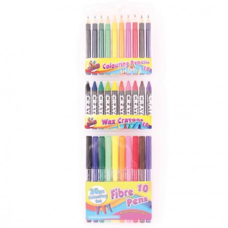 30 Piece Colouring Set