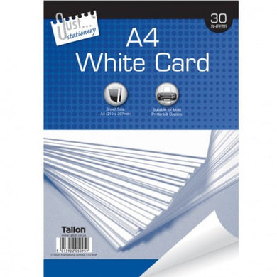 30 Sheets of A4 White Card