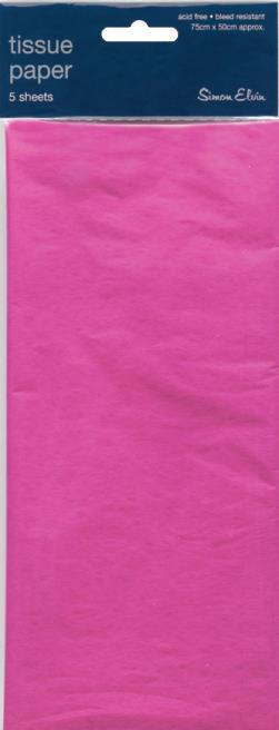 5 Sheets of Cerise Tissue Paper