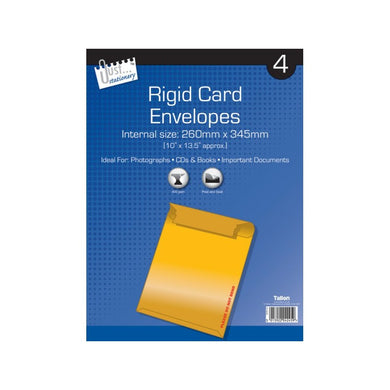 4 Rigid Card Envelopes 260mm x 345mm