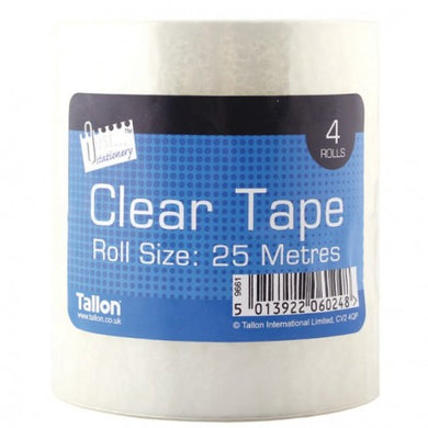4 Rolls of Clear Tape