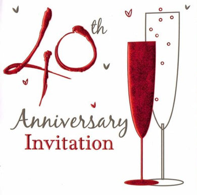 40th Anniversary Invitation