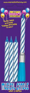 Blue Musical Candles