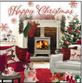 12 Christmas Cards: Fireside