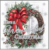12 Christmas Cards: Wreath