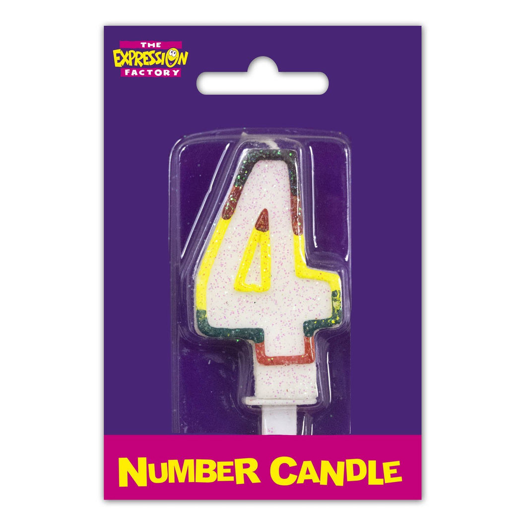 Number 4 Candle