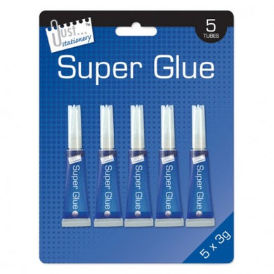 5 Tubes of Super Glue
