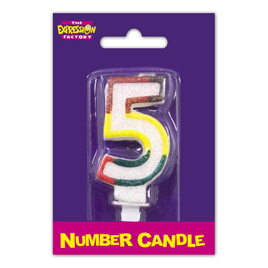 Number 5 Candle