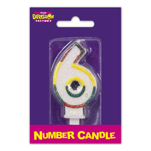 Number 6 Candle
