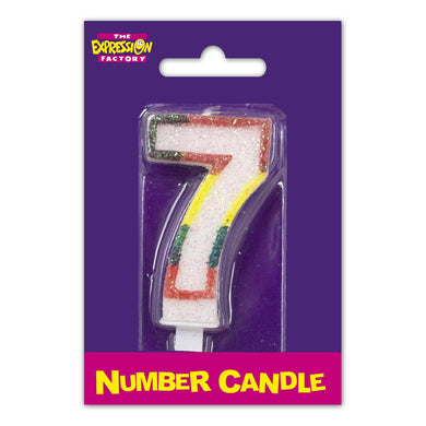 Number 7 Candle