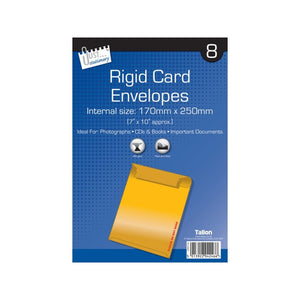 8 Rigid Card Envelopes 175mm x 250mm