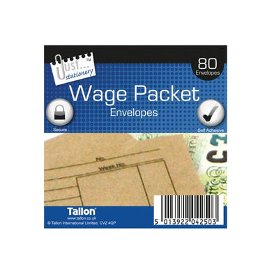 80 Wage Packet Envelopes