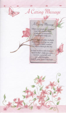 A Caring Message Keepsake Card
