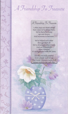 A Friendship to Treasure Keepsake Card