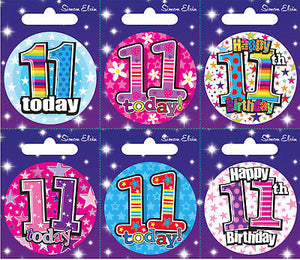 Age 11 Small Badges x6