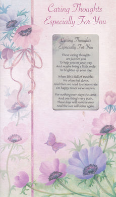 Caring Thoughts Keepsake Card