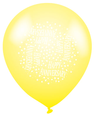 Happy Anniversary Latex Balloons