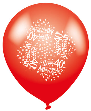 Ruby Anniversary Latex Balloons