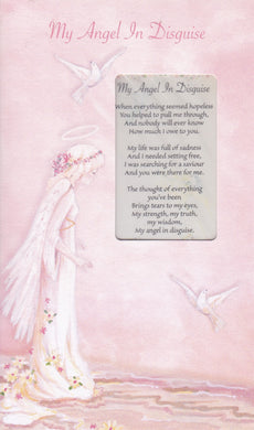 My Angel in Disguise Keepsake Card