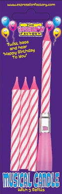 Pink Musical Candles