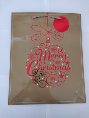 Merry Christmas Bauble Large Gift Bag
