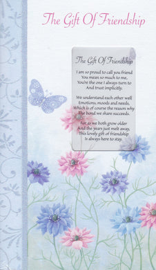 Gift of Friendship Keepsake Card