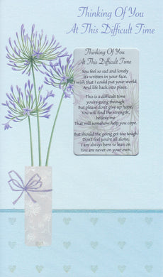 Thinking of you / Difficult Time Keepsake Card