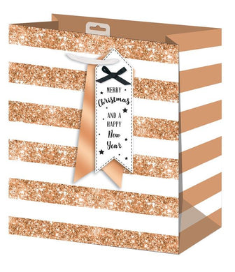 Gold Stripe Medium Gift Bag