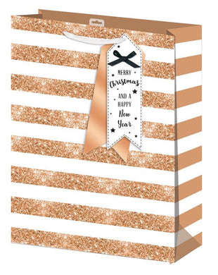 Gold Stripe Extra Large Gift Bag