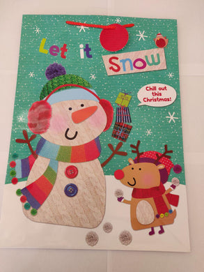 Let It Snow Extra Large Gift Bag