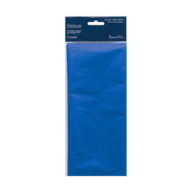 5 Sheets of Blue Tissue Paper