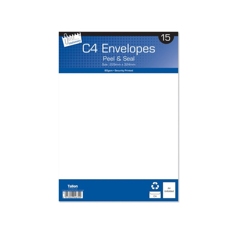 C4 White Envelopes