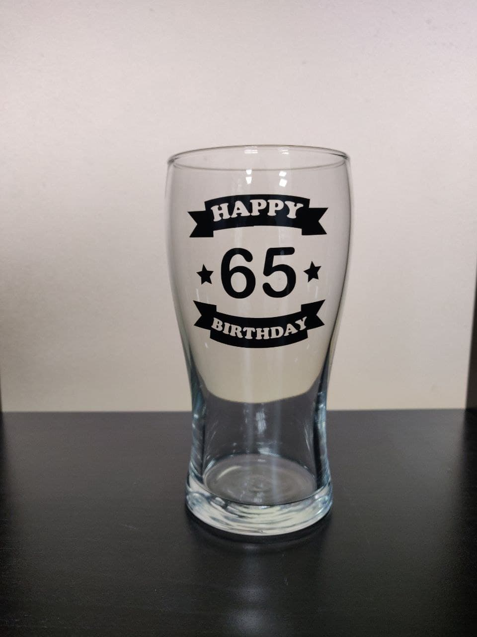 Pint Glass: Happy Birthday 65