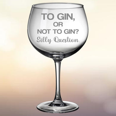 Gin Glass: Silly Question