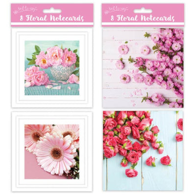 8 Square Notecards: Flowers